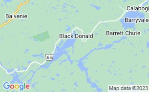 Map of Black Donald Tent & Trailer Park