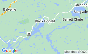 Map of Black Donald Tent & Trailer Park
