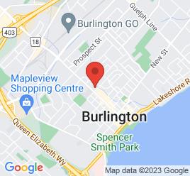Google Map of 629+Brant+Street%2CBurlington%2COntario+L7R+2H1
