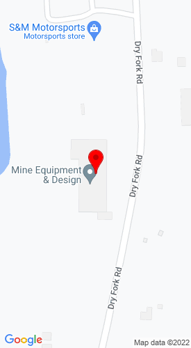 Google Map of Mine Equipment & Design LLC 6295 Dry Fork Road, Cleves, OH, 45002