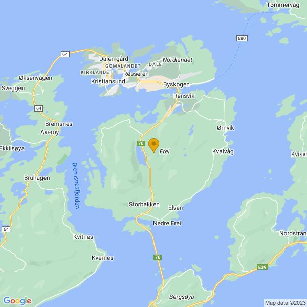 Google Map of 63.066469699914926,7.788854690030811
