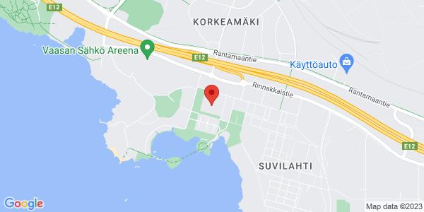 Kartta: Teirinkatu 2, 65350 Vaasa