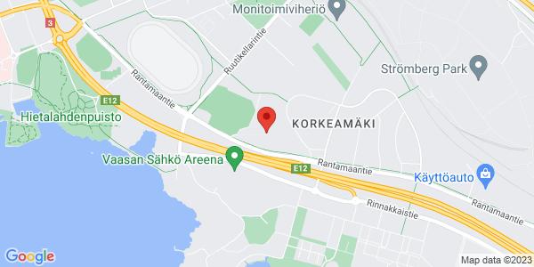 Kartta: Vaasan kaupunginpuutarha, Rantamaantie 5, 65350 Vaasa