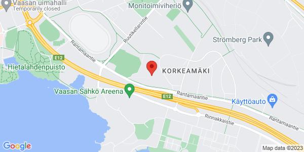 Map: Vaasan kaupunginpuutarha, Rantamaantie, Vaasa