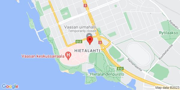 Kartta: Hietalahdenkatu 8, Vaasa