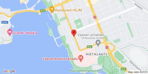 Map: Koulukatu 56, 65100 Vaasa
