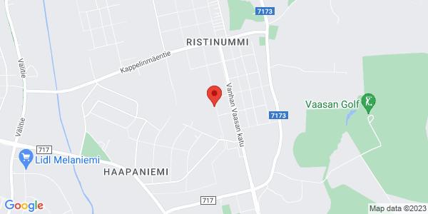 Kartta: Ostospolku 12, 65370 Vaasa