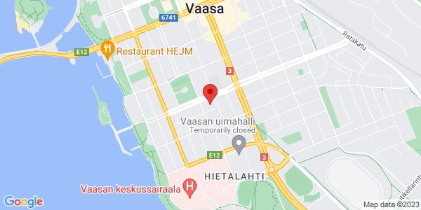 Kartta: Itäinen Kasarmintori 7-9, 65100 Vaasa