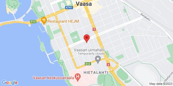 apr: Itäinen Kasarmintori 7-9, 65100 Vaasa