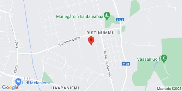 Kartta: Nuorisotalo Ristikka, Jyrsijänkatu, Vaasa