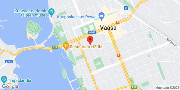 Map: Kirkkopuistikko 28, Vaasa