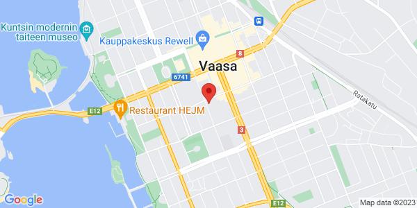 Kartta: Raastuvankatu 29, Vasa