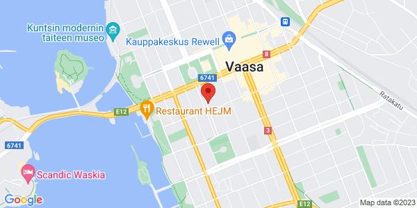 Kartta: Kirkkopuistikko 27, 65100 Vaasa
