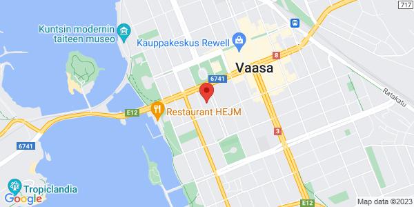 Map: Kirkkopuistikko 26, Vaasa