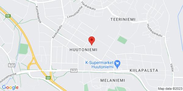 Kartta: Träffpunkt Huudi, Mannerheimintie, Vaasa