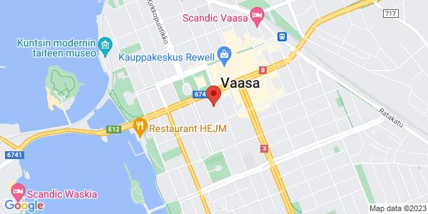 Kartta: Raastuvankatu 30, 65100 Vaasa