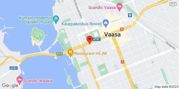 Kartta: Vaasanpuistikko 8, Vaasa