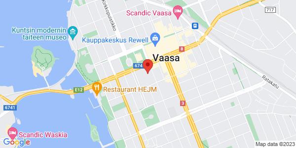 Kartta: Koulukatu 49, 65100 Vaasa