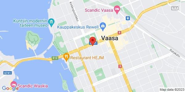 Kartta: Vaasanpuistikko 10, Vaasa