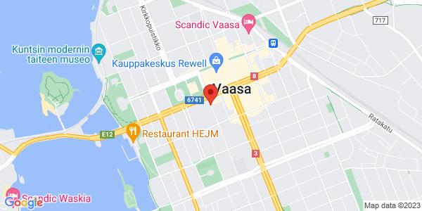 Kartta: Raastuvankatu, Vaasa