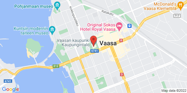 Map: Senaatinkatu 1, 65100 Vaasa