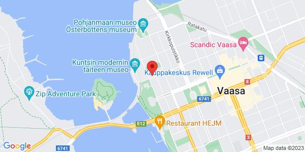 Kartta: Hietasaarenkatu 1, Vaasa