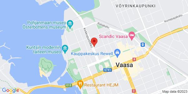 Kartta: Kirkkopuistikko 15, Vaasa