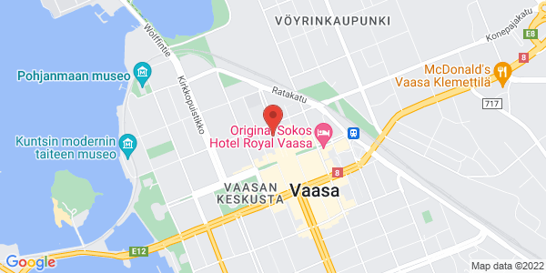 Kartta: Kauppapuistikko 8, Vaasa