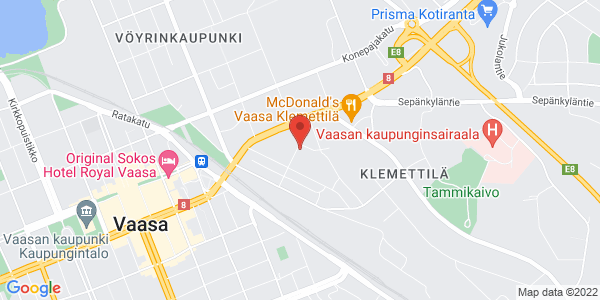 Kartta: Myllykatu 18, Vaasa