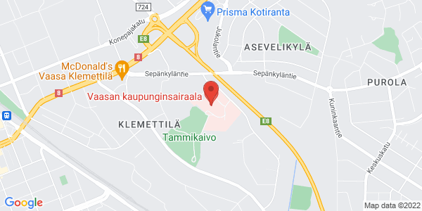 apr: Vasa stadssjukhus, Dammbrunnsvägen 4, 65100 Vaasa