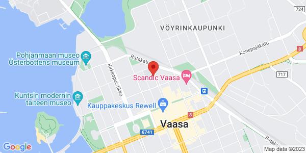 Kartta: Kauppapuistikko 4, 65100 Vaasa
