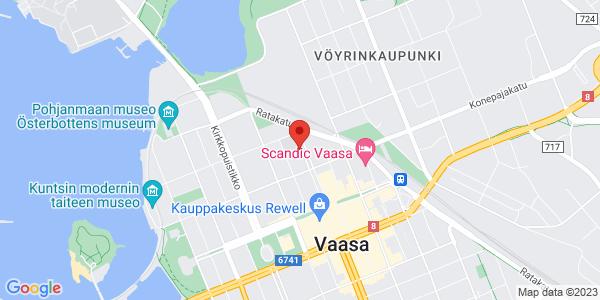 Kartta: Kauppapuistikko 4, Vaasa
