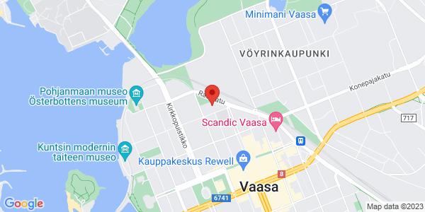 Map: Kirjastonkatu 13, Vaasa