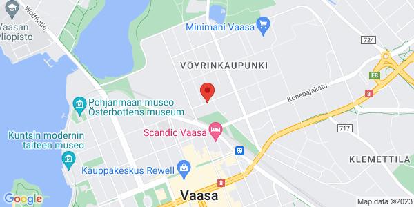 Kartta: Vuorikatu 2-4, Vaasa
