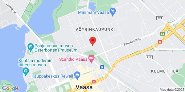 Kartta: Pitkänlahdenkatu 31-33 E, 65100 VAASA