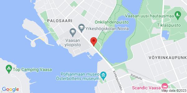 Kartta: Yliopistonranta 1, Vaasa