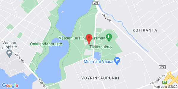 Kartta: Vöyrinkatu 2, 65100 Vaasa