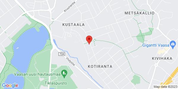 Kartta: Kustaalantie 28, talo 3, 65230 VAASA