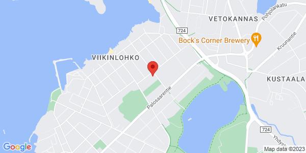 Kartta: Urheilukatu 10, 65200 Vaasa