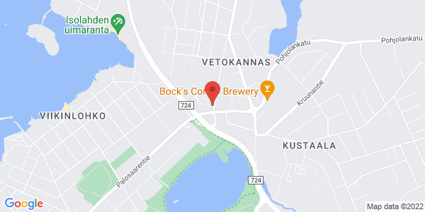 Kartta: Verkkokatu 1 C, 65230 Vaasa