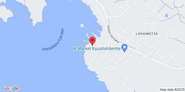 Kartta: Villa Gerby, Saariniementie, Vaasa