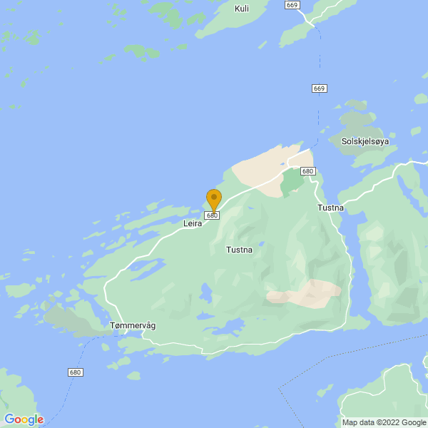 Google Map of 63.205181155334,8.040572725376158