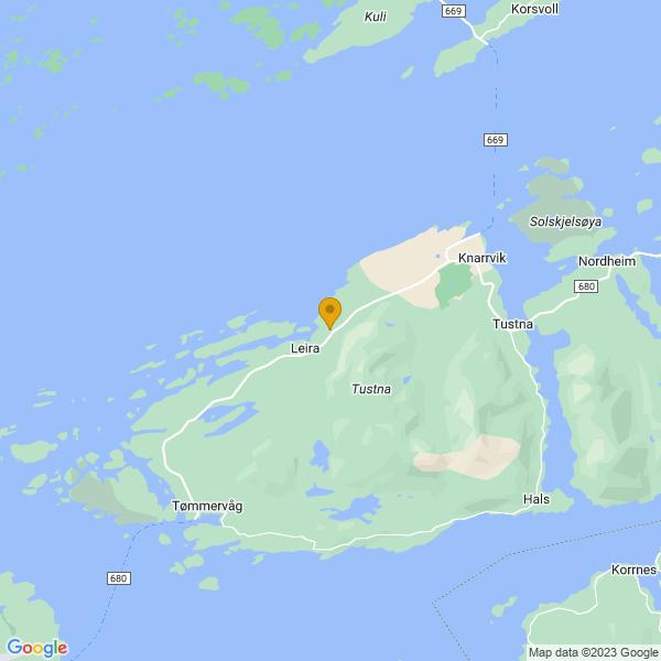 Google Map of 63.2061868,8.0391417