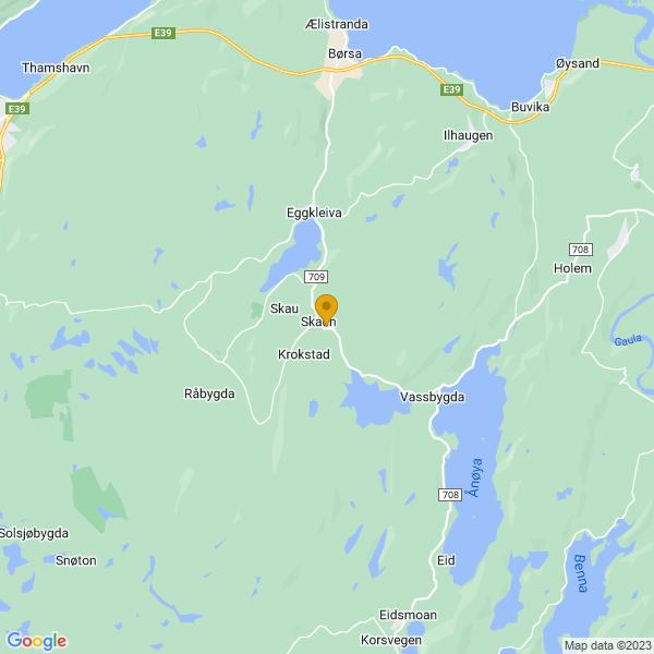 Google Map of 63.2494427,10.0577888