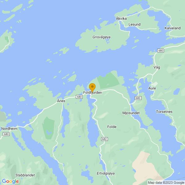 Google Map of 63.26190409999999,8.3968739