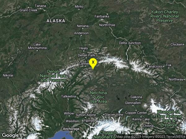 earthquake 31 km ESE of Cantwell, Alaska