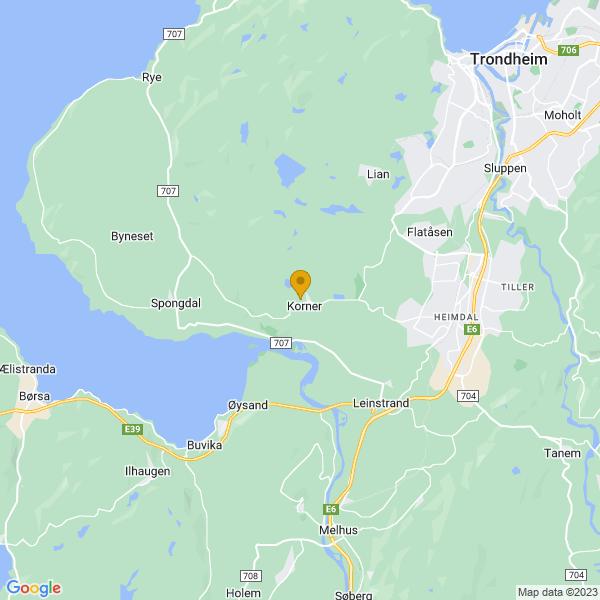 Google Map of 63.35646079999999,10.2518128