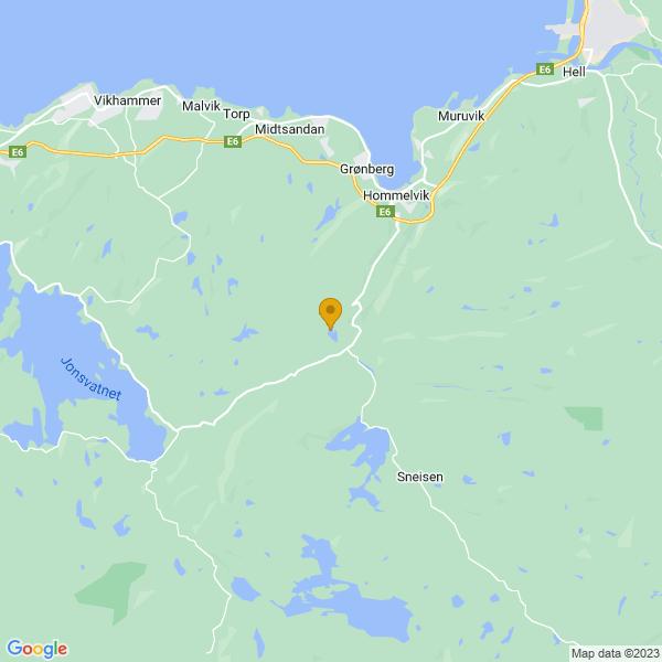 Google Map of 63.37305219999999,10.7534659