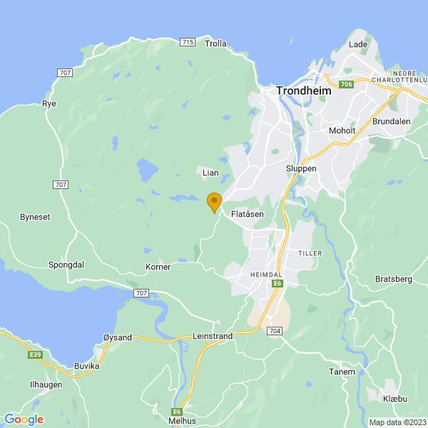 Google Map of 63.3774482,10.3087829