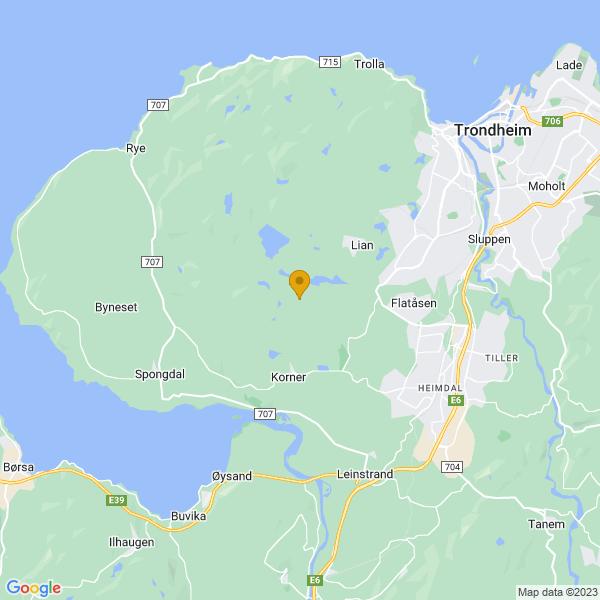 Google Map of 63.3781928,10.2622891